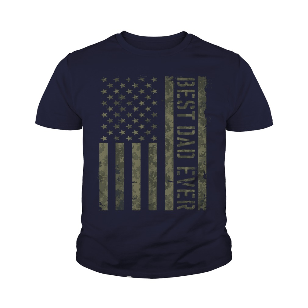 Best Dad Ever American Flag shirt Youth Tee