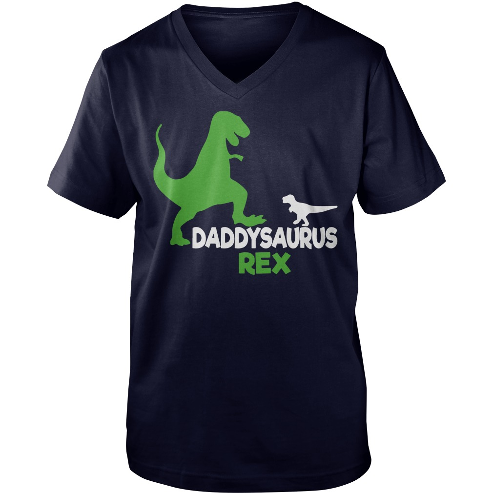 Daddysaurus Rex shirt Guys V-Neck