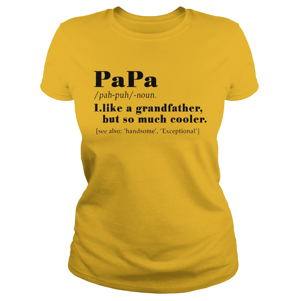 Definition Of PaPa I like a grandfather but so much cooler shirt Ladies Tee
