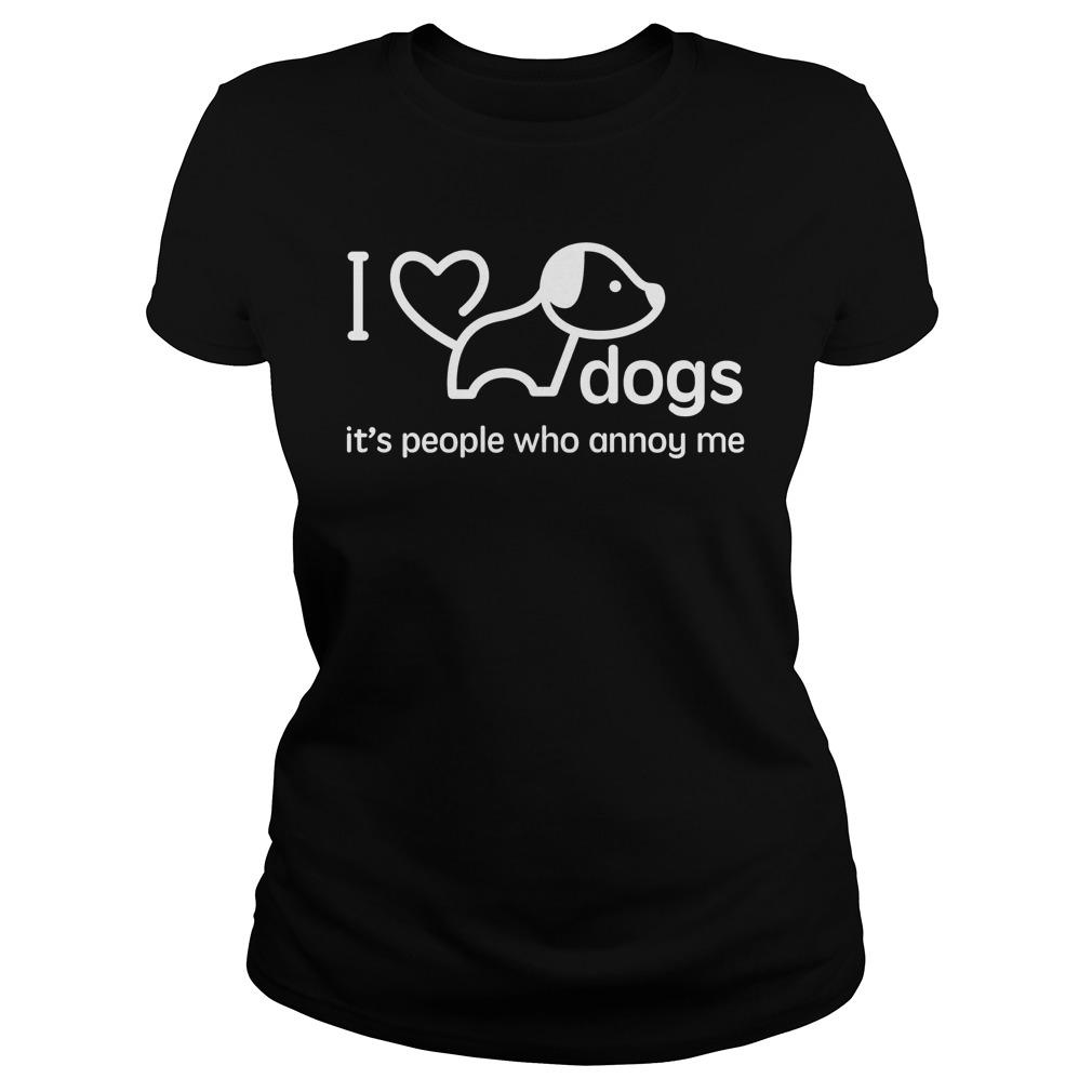 I Love Dogs shirt, Ladies and Guys Tee