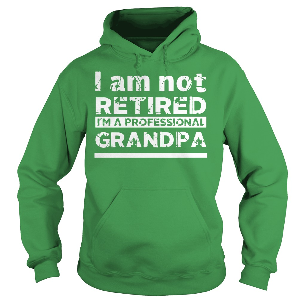 I am Not Retired I am A Professional Grandpa shirt Hoodie
