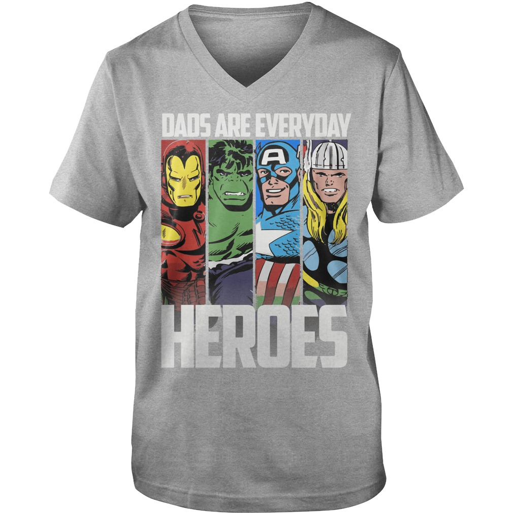 Marvel Avengers Fathers Day Everyday Heroes shirt, Sweat Shirt, Guys V-Neck