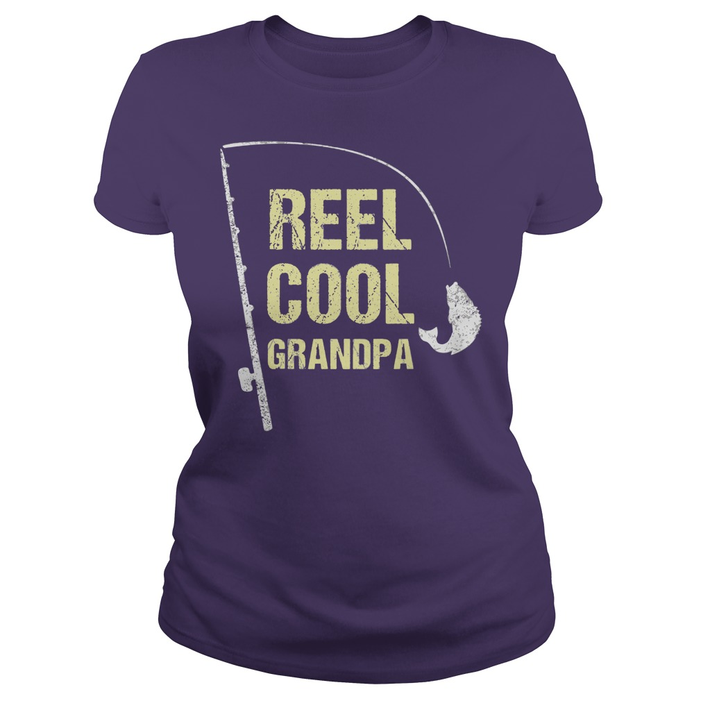 Real Cool Fishing Grandpa shirt Ladies Tee