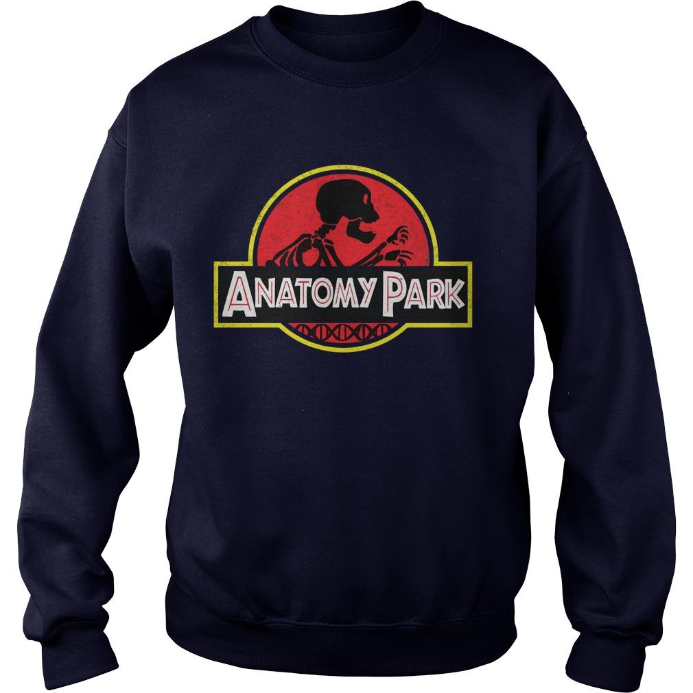 Rick and morty anatomy park shirt, Sweat Shirt, Guys V-Neck