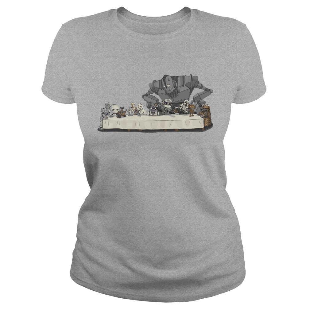 Robots Dont Need to Eat shirt Ladies Tee