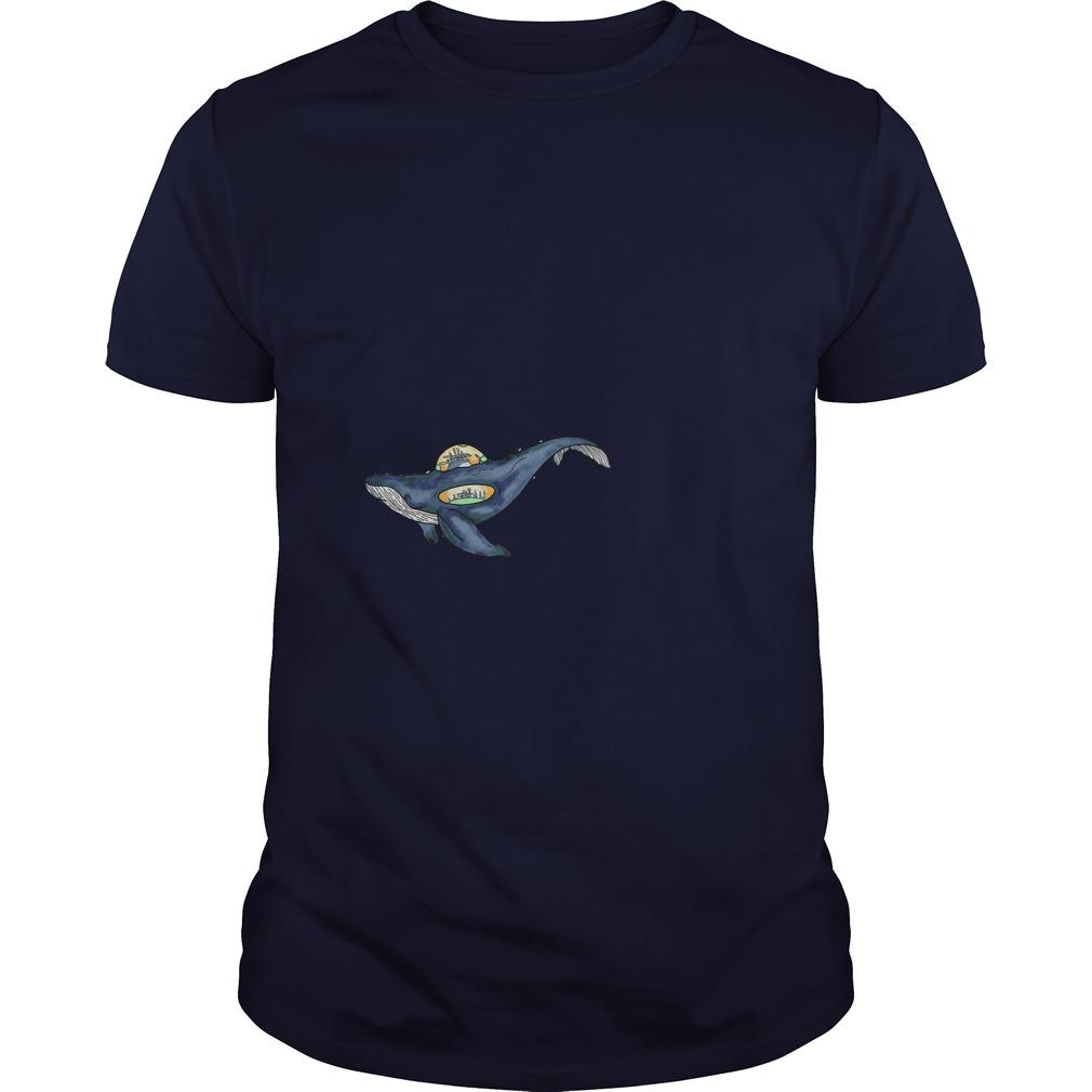 Space whale shirt Guy Tee