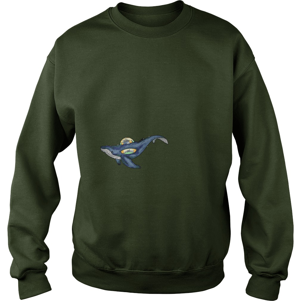 Space whale shirt Sweat Shirt