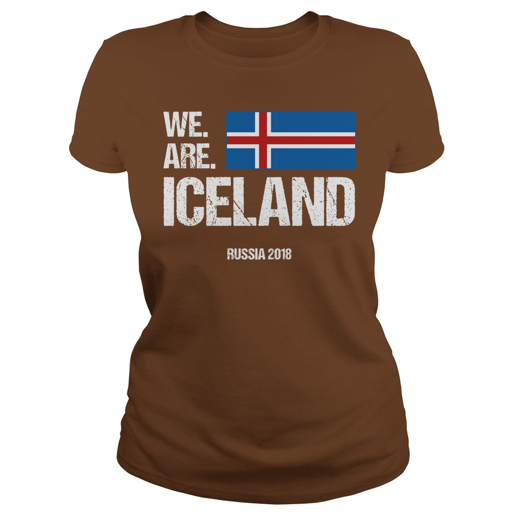 We Are Iceland World Cup Rusia 2018 shirt Ladies Tee