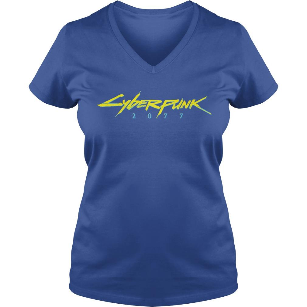 Cyberpunk 2077 shirt Ladies V-Neck