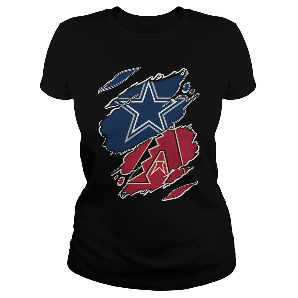 dallas cowboys and Arizona Diamondbacks logo SHIRT, Lady V-Neck, Guy Tee