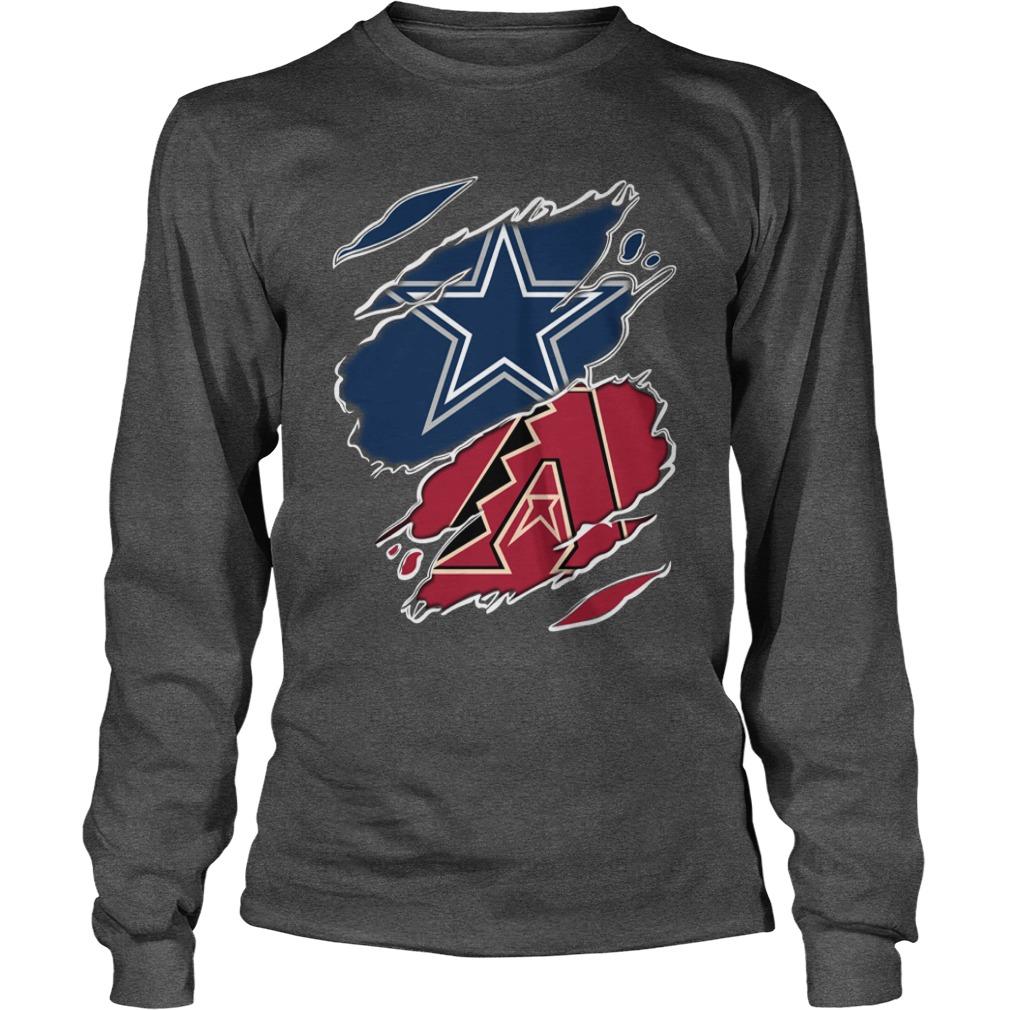 dallas cowboys and Arizona Diamondbacks logo SHIRT, Lady V-Neck, Guy Tee