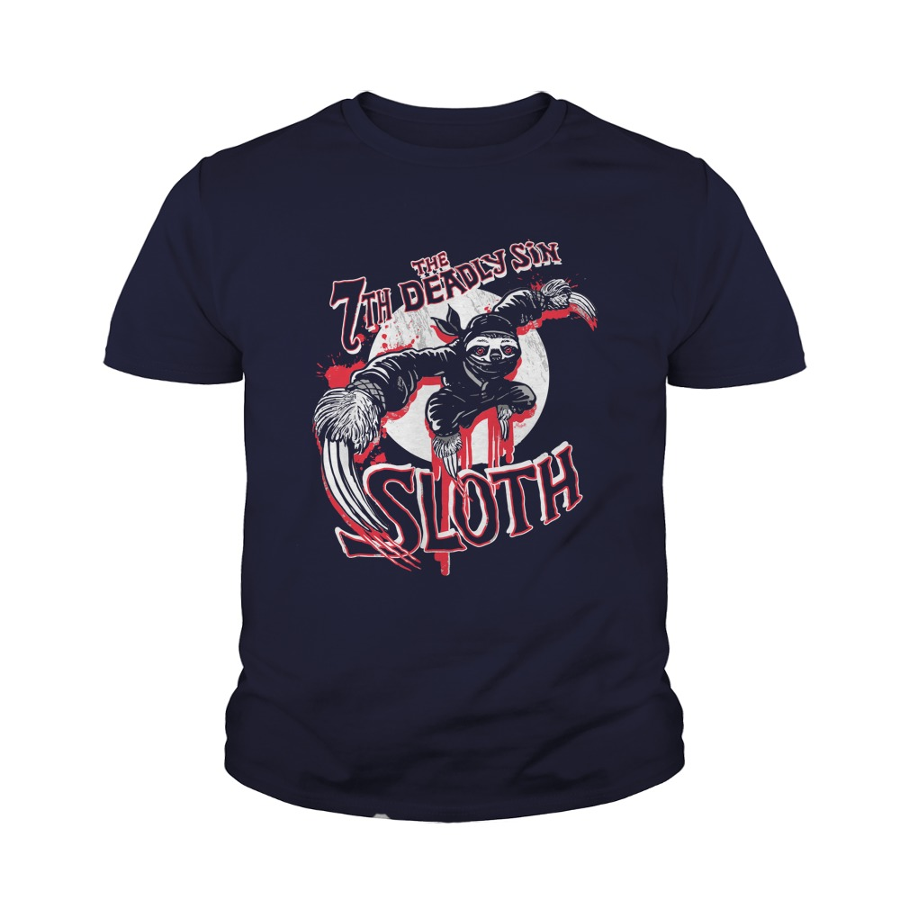7th Deadliest Sin Sloth Ninja Style shirt, Guy T-Shirt, Youth Tee