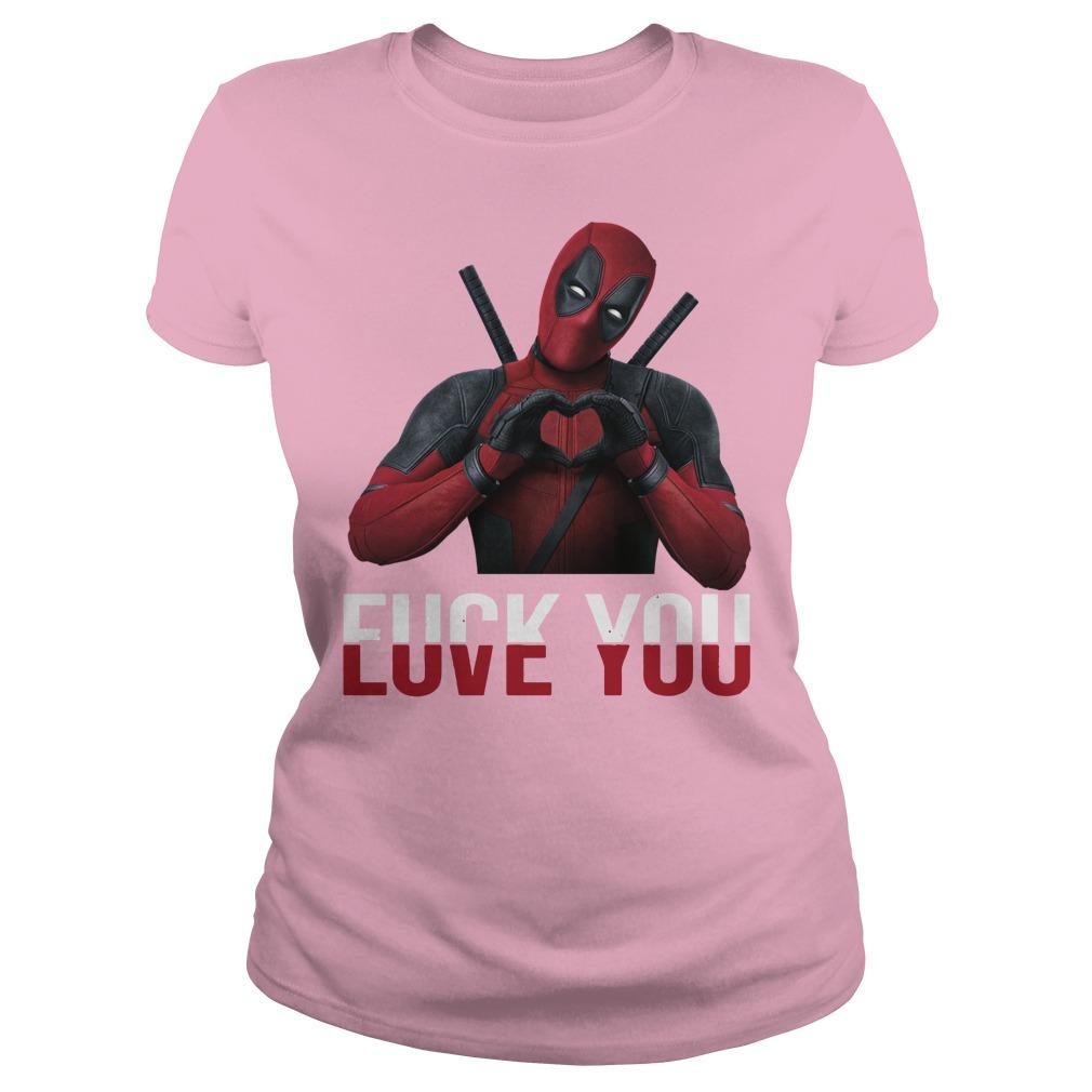 Deadpool Love you Fuck you shirt, lady tee, hoodie