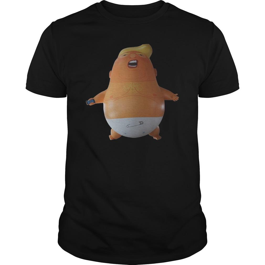 Donald Trump baby ballon shirt, guy v-neck, sweat shirt
