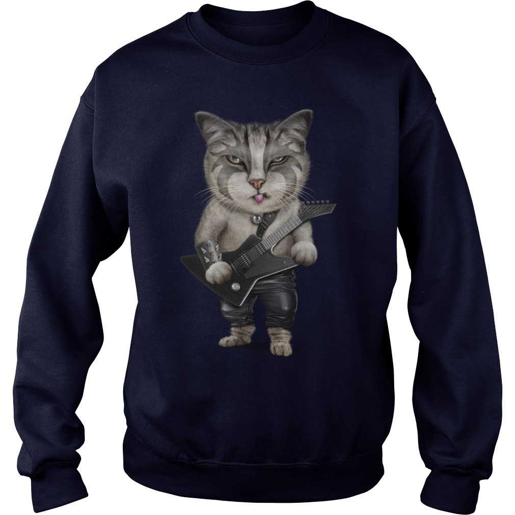 Guitar Cats Shirt, Sweat Shirt, Guy T-Shirt