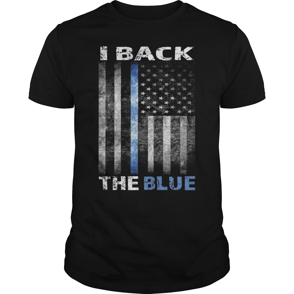 I back the blue american flag shirt, hoodie, unisex longsleeve tee