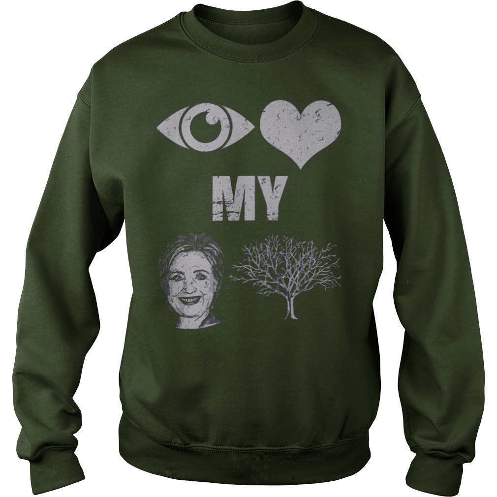 I love my country Hillary Clinton shirt, sweat shirt, guy tee