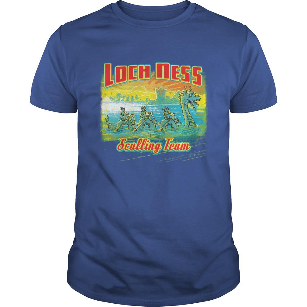 Loch Ness Sea Monster Sculling Team Shirt, Guy V-Neck, Unisex Tank Top