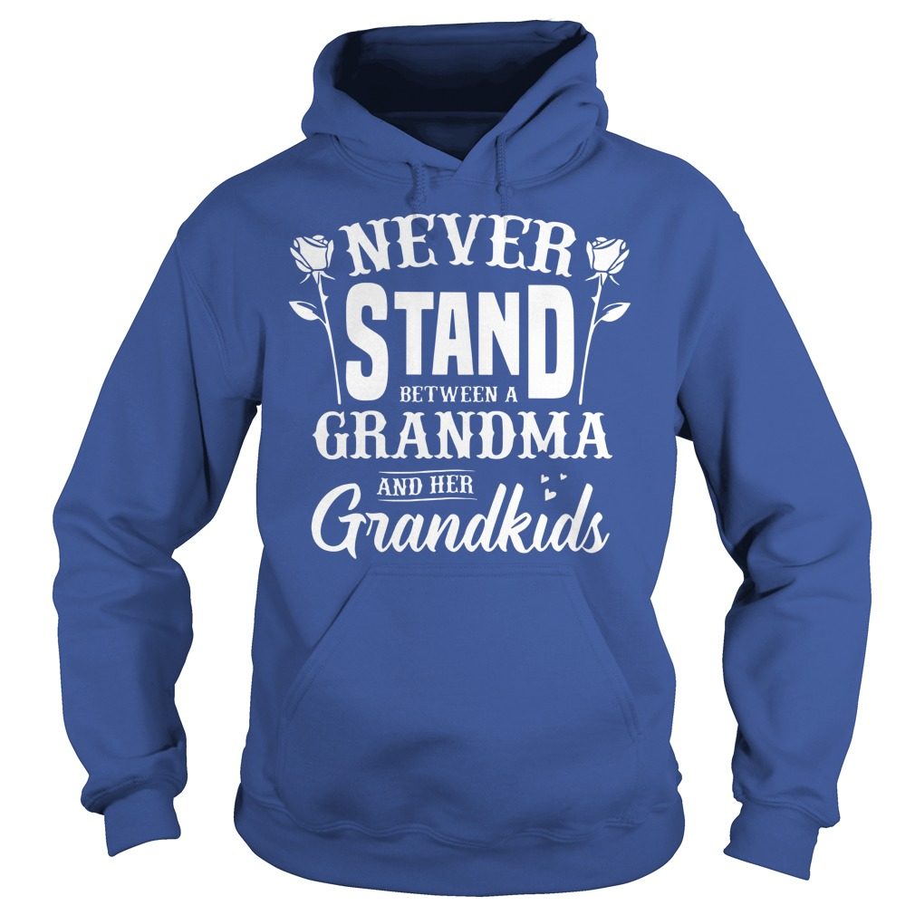 Never stand between a grandma and her grandkids shirt, lady tee, hoodie