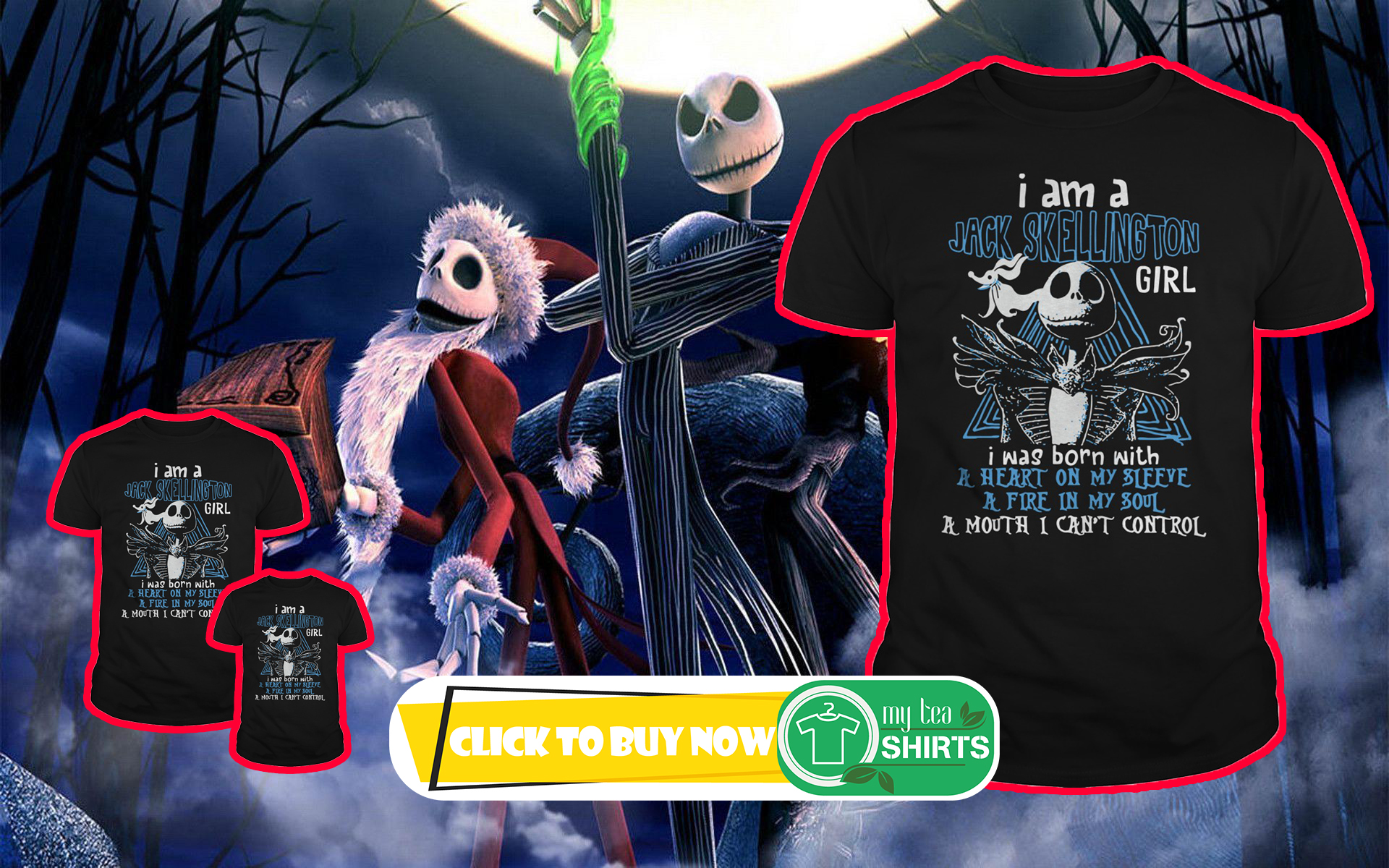 Nightmare Before Christmas I Am Jack Skellington Shirt, Lady Tee ...