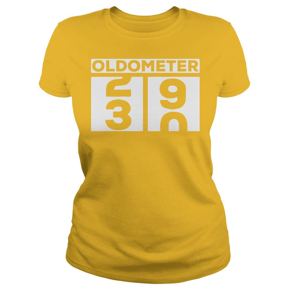 Oldometer 30th birthday shirt, lady tee, guy tee