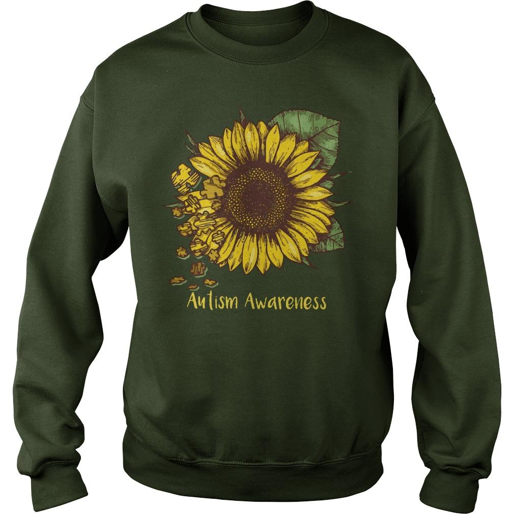 Sunflower Autism awareness shirt, lady tee, sweat shirt