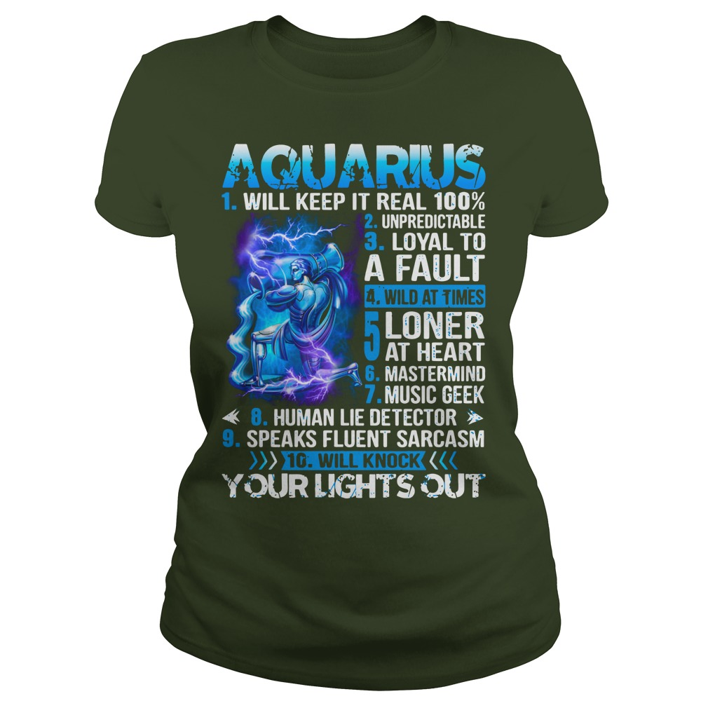 10 things about Aquarius shirt lady tee
