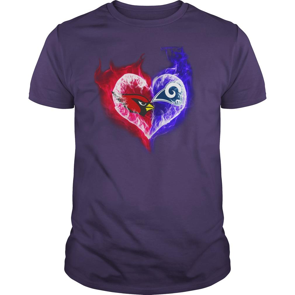 Arizona Cardinals - Los Angeles Rams It's in my heart shirt guy tee