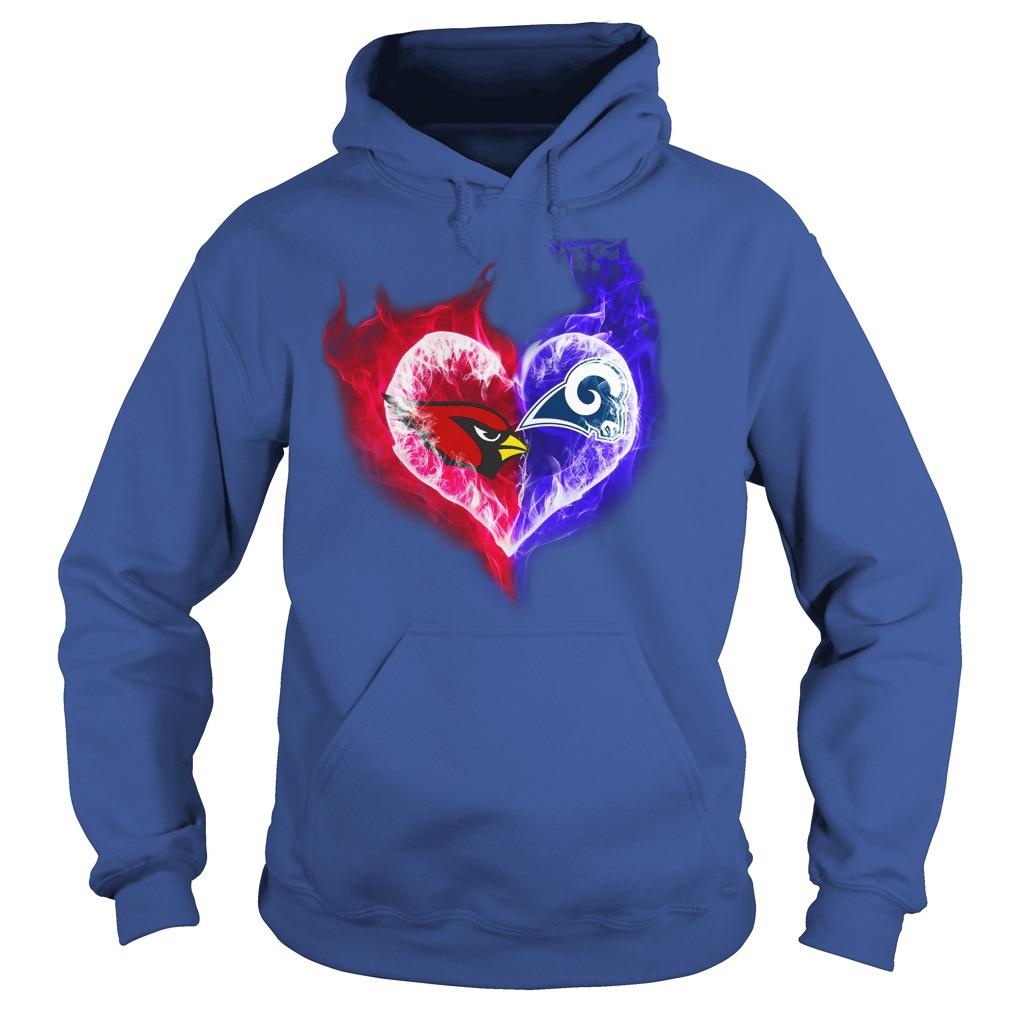 Arizona Cardinals - Los Angeles Rams It's in my heart shirt hoodie