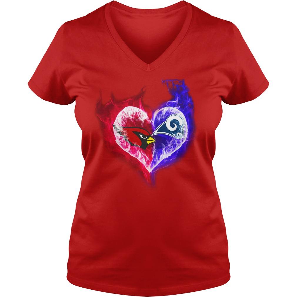 Arizona Cardinals - Los Angeles Rams It's in my heart shirt lady v-neck