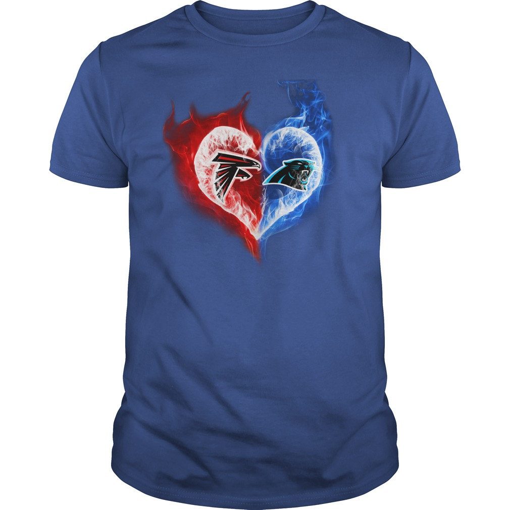 Atlanta Falcons - Carolina Panthers It's in my heart shirt guy tee