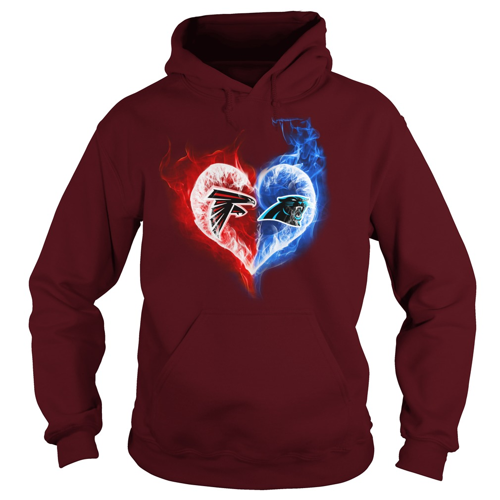 Atlanta Falcons - Carolina Panthers It's in my heart shirt hoodie
