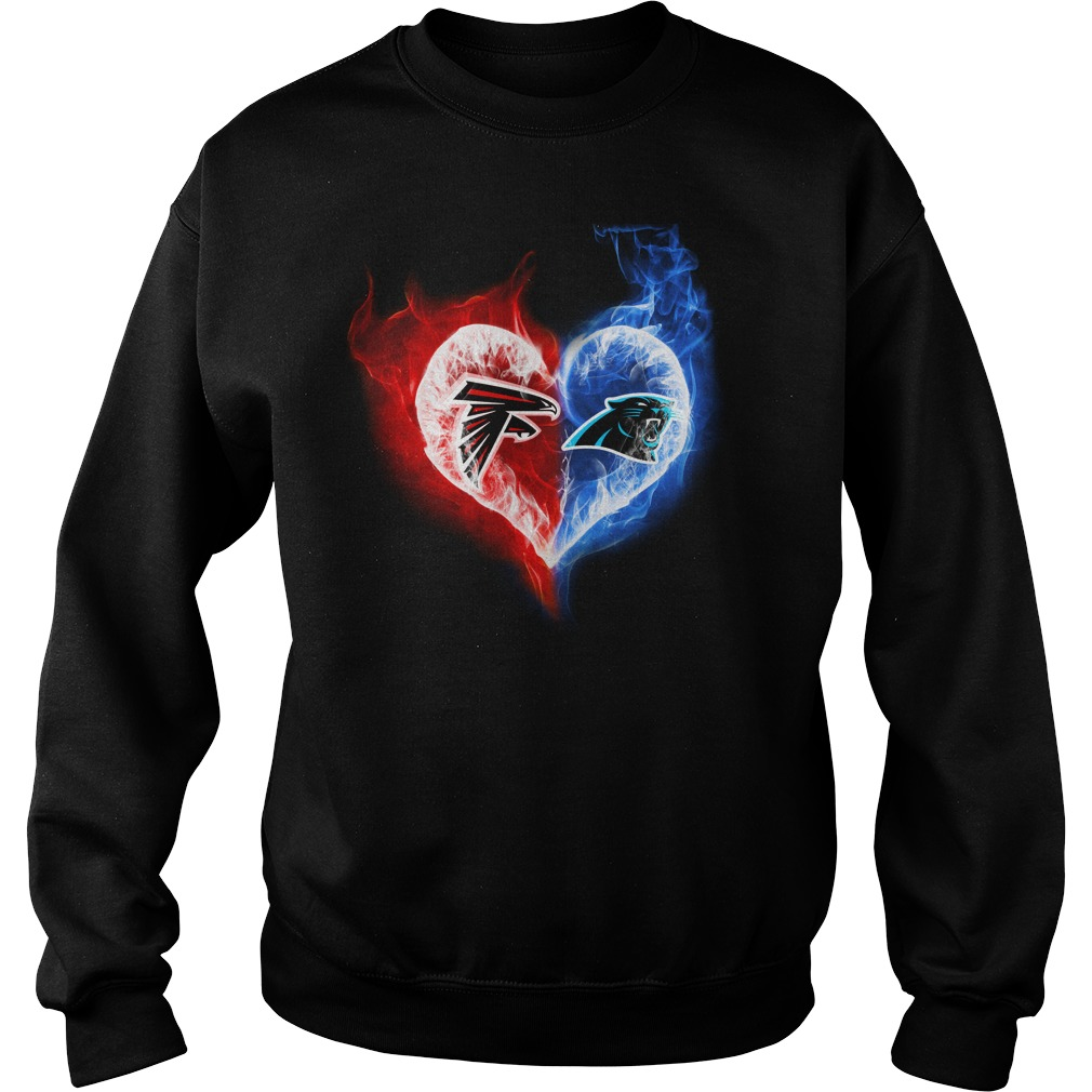 Atlanta Falcons - Carolina Panthers It's in my heart shirt sweat shirt