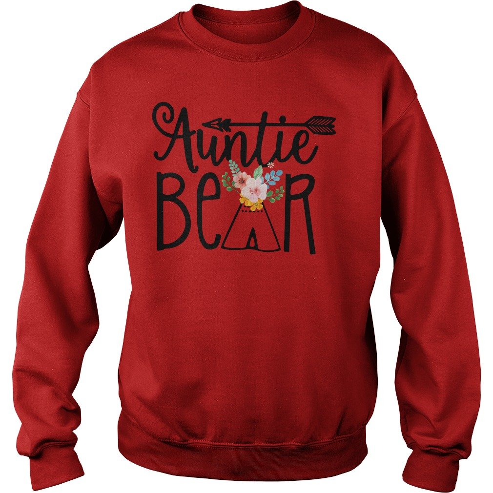 Auntie Bear shirt, lady v-neck, lady tee