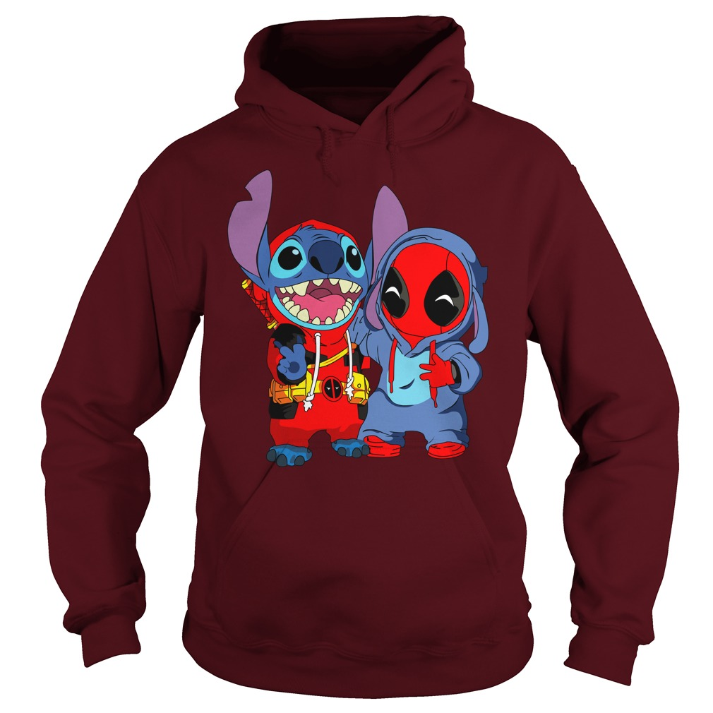 Baby deadpool and stitch shirt hoodie - Deadpool and Unicorn Funny Stitch shirt