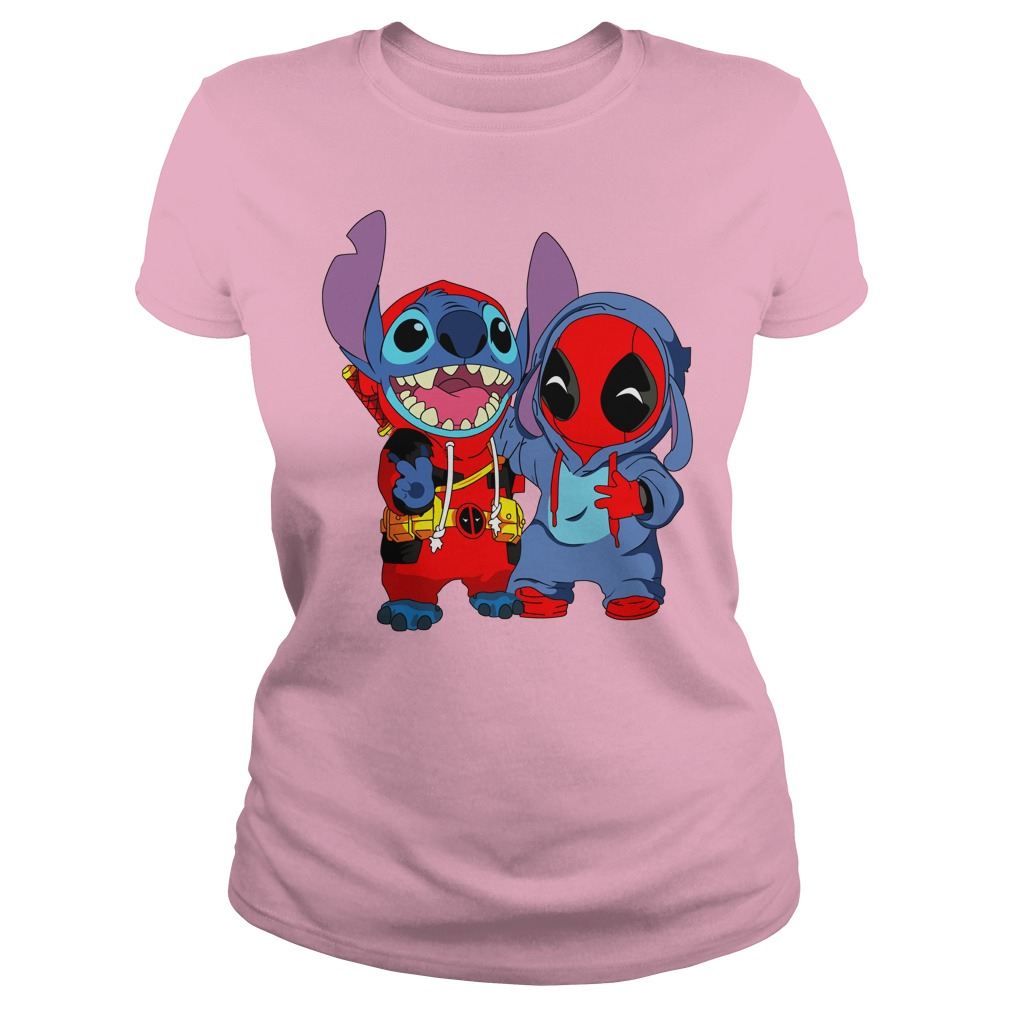 Baby deadpool and stitch shirt lady tee - Deadpool and Unicorn Funny Stitch shirt