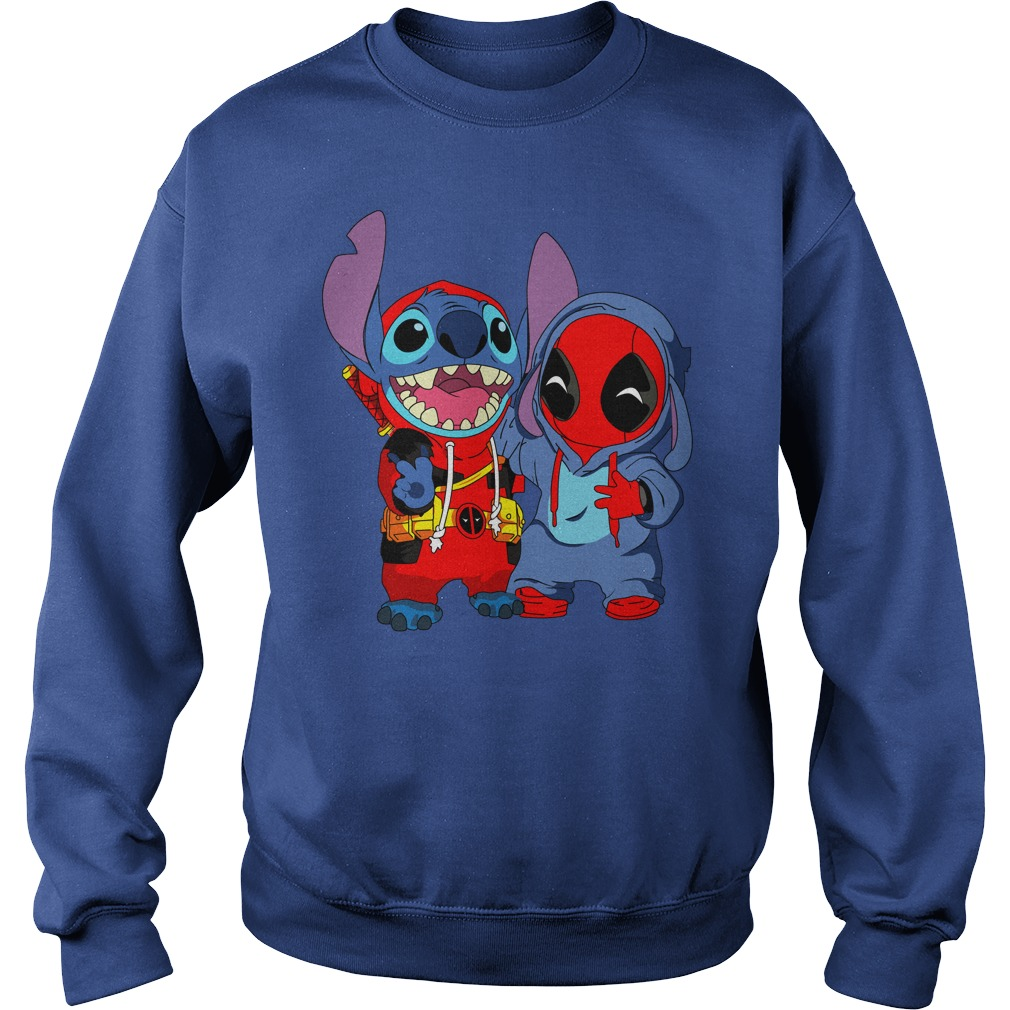 Baby deadpool and stitch shirt sweat shirt - Deadpool and Unicorn Funny Stitch shirt