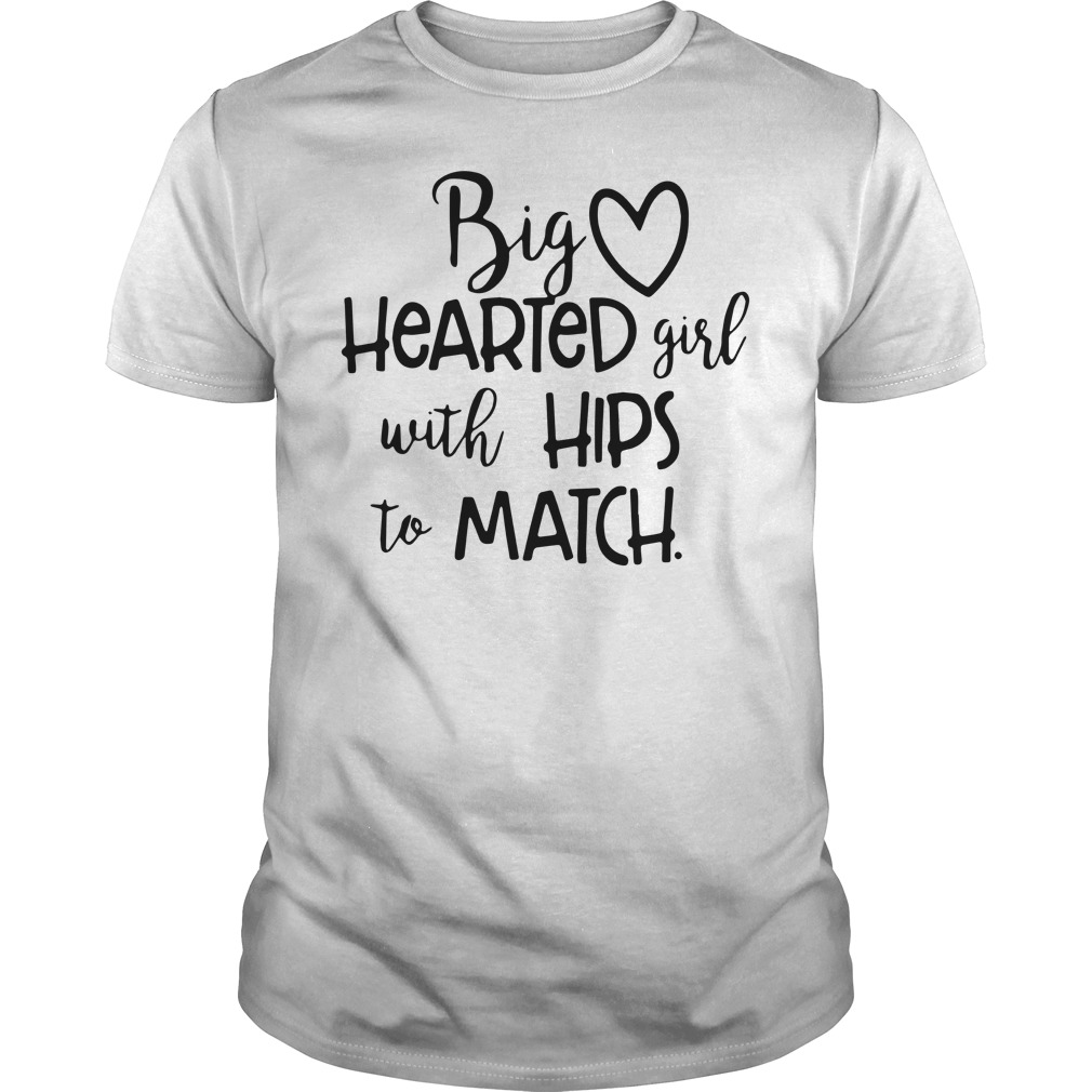 Big hearted girl with hips to match shirt guy tee
