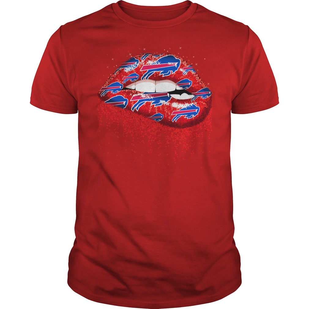 Buffalo Bills love glitter lips shirt guy tee