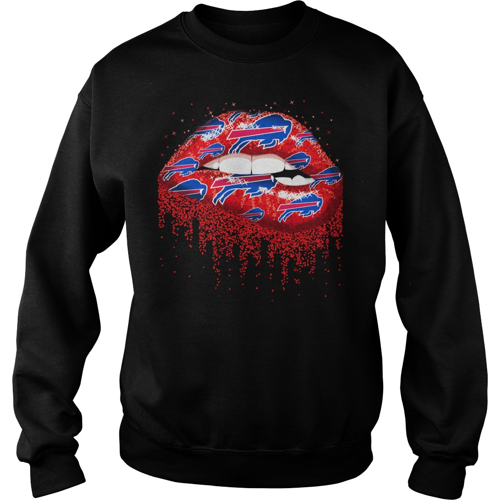 Buffalo Bills love glitter lips shirt sweat shirt