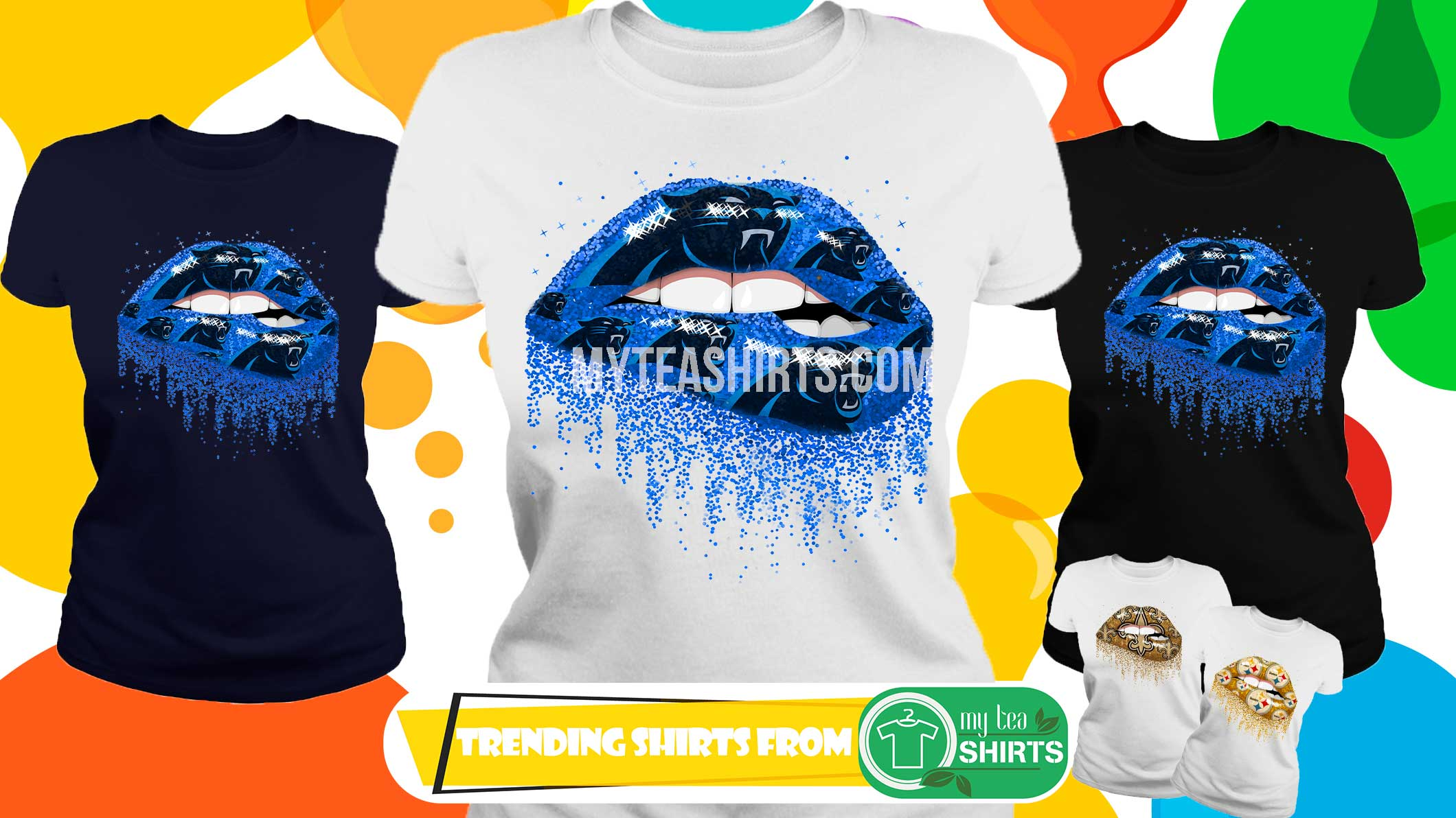 Carolina Panthers love glitter lips shirt, lady tee, guy v neck
