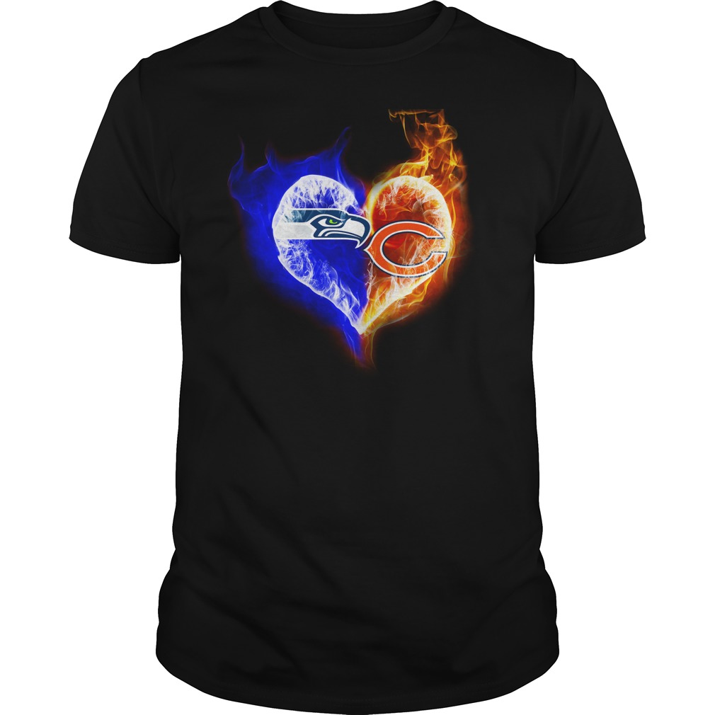 Chicago Bears - Seattle Seahawks It's in my heart shirt guy tee