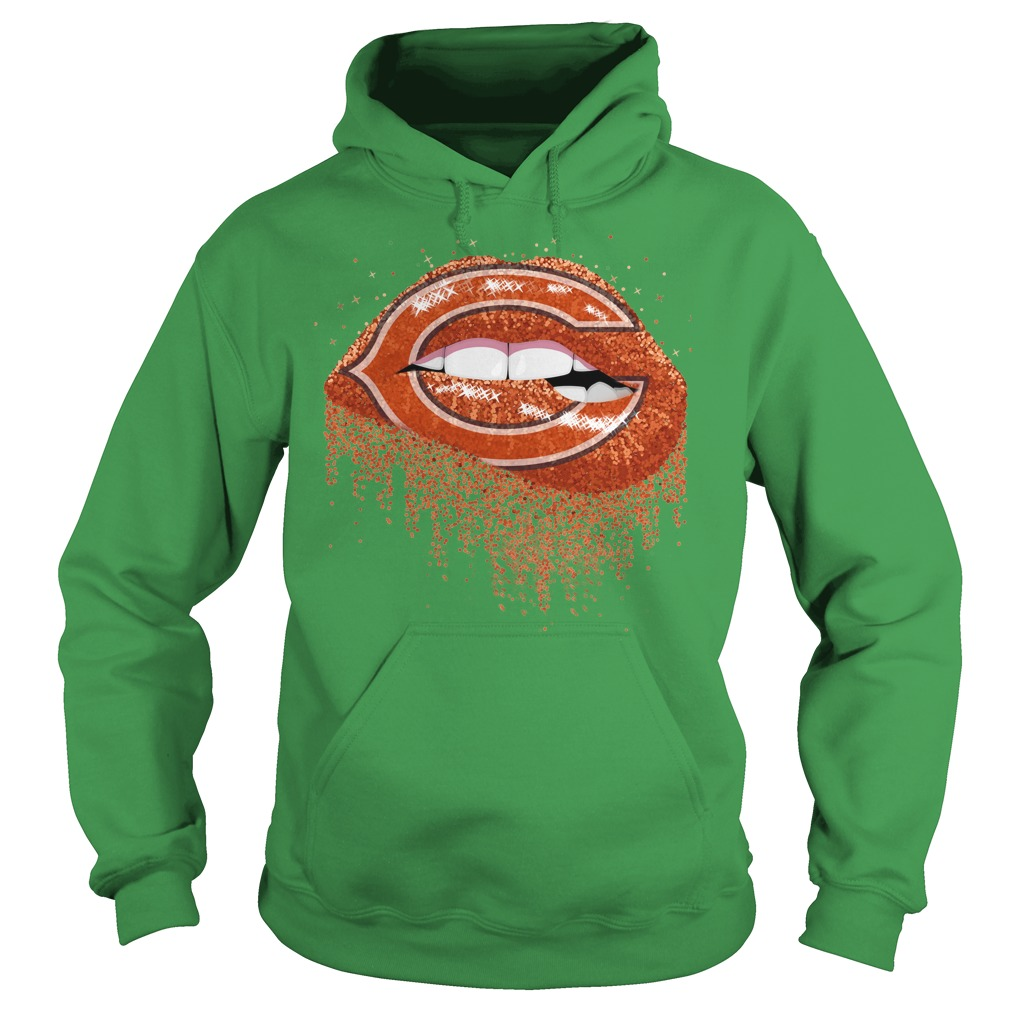 Chicago Bears love glitter lips shirt hoodie