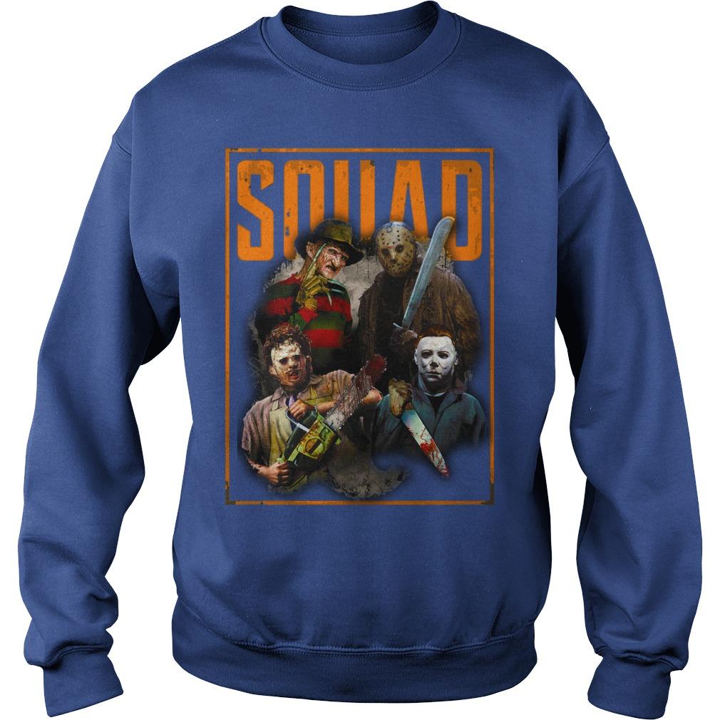 Freddy Jason Michael Myers and Leatherface Squad shirt sweat shirt