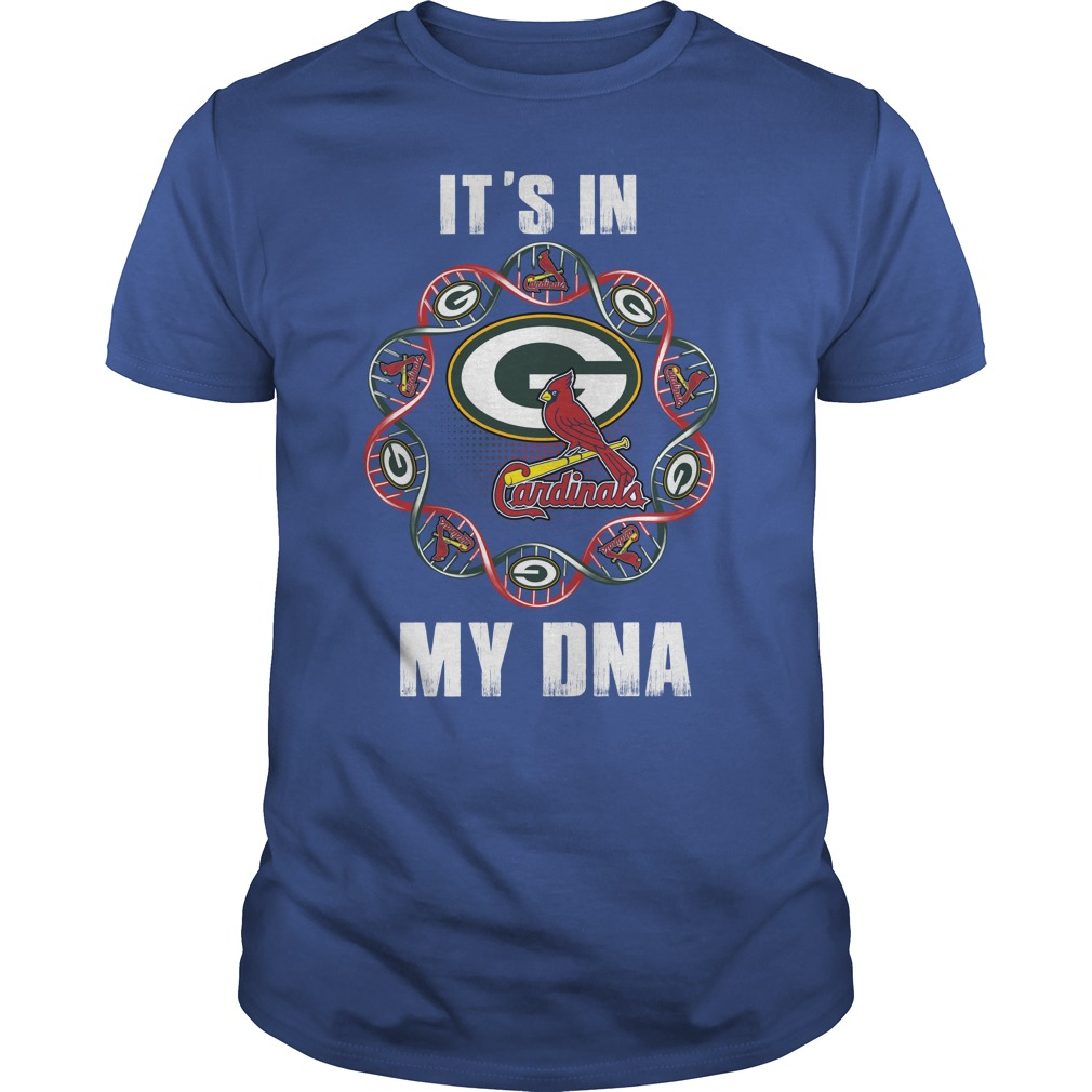 Green Bay Packers - Louis Cardinals It's in my DNA shirt guy tee - Green Bay Packers - Louis Cardinals shirt