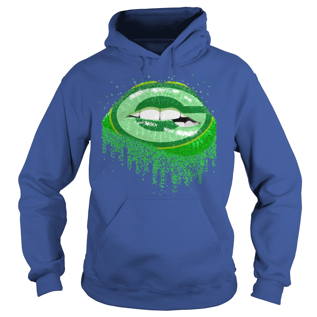 Green Bay Packers love glitter lips shirt hoodie