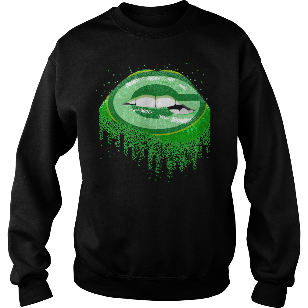 Green Bay Packers love glitter lips shirt sweat shirt