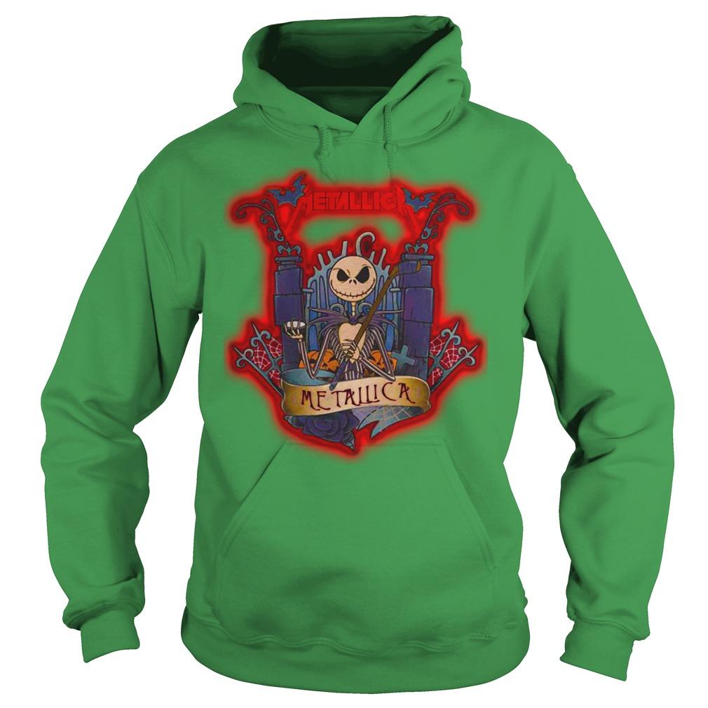 Halloween Jack Skellington metallica shirt hoodie