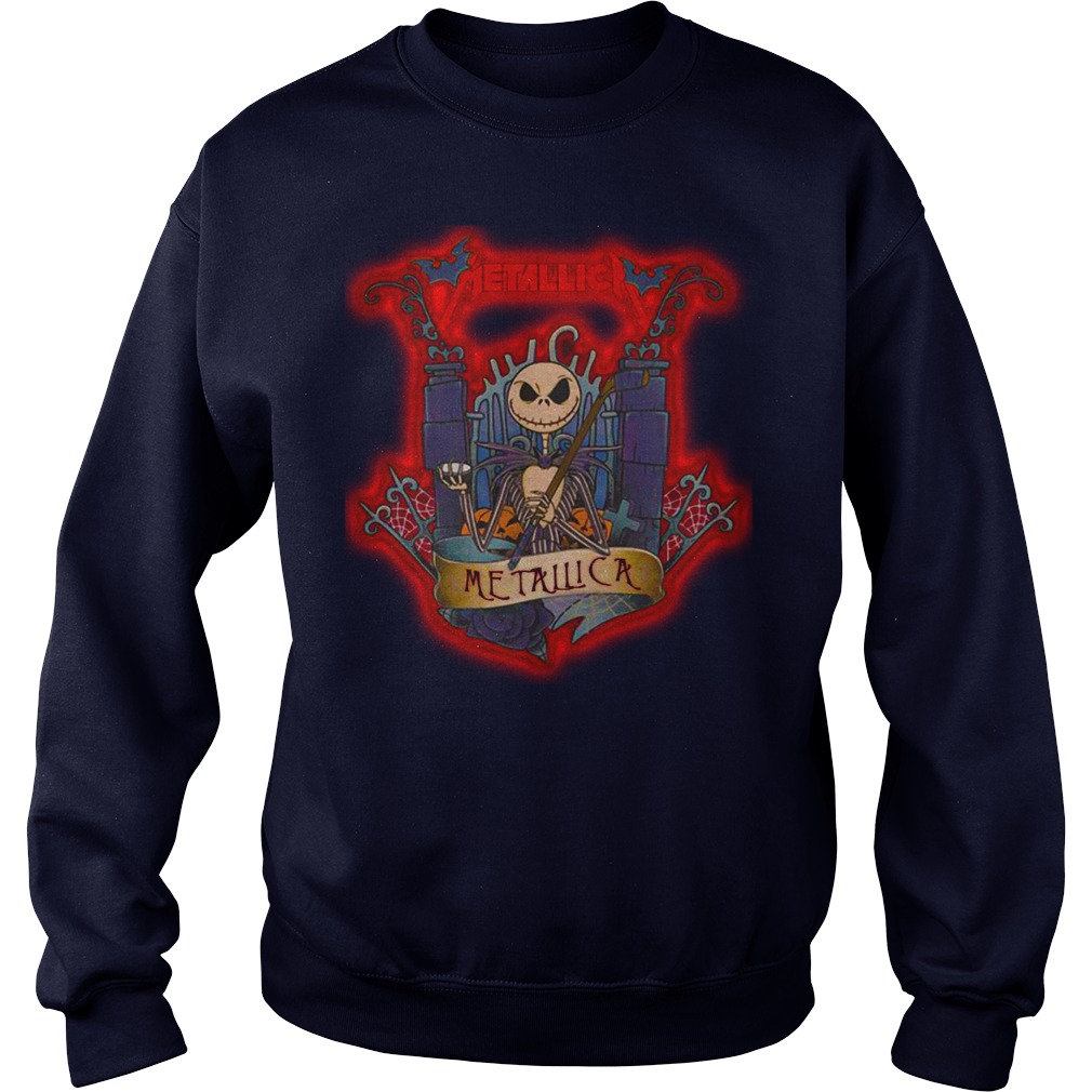 Halloween Jack Skellington metallica shirt sweat shirt