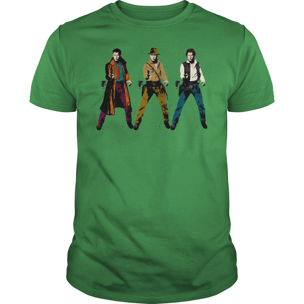 Harrison Tri-Ford shirt guy tee - Star Wars Harrison Ford shirt